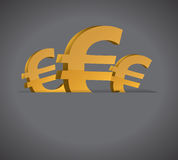 Euro symbols and pocket illustration design Royalty Free Stock Photography