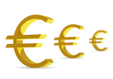 Euro Symbols on white background royalty free illustration