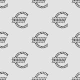 Euro szyldowy bezszwowy deseniowy tło Fotografia Stock
