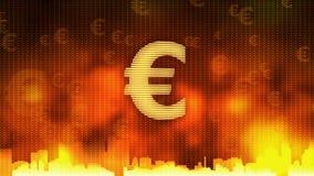 Euro szyldowy wirować Gospodarka światowa, pieniądze cyrkulacja, biznes, rynek papierów wartościowych royalty ilustracja