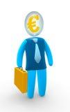 euro tête illustration de vecteur