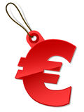 Euro tag Stock Photography