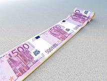Euro tapis Photos libres de droits