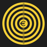 Euro target Stock Photo