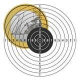 Euro on target vector illustration Stock Photo