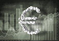 Euro tasso di cambio Fotografia Stock Libera da Diritti