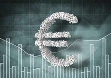 Euro tasso di cambio, rappresentazione 3D Fotografie Stock Libere da Diritti
