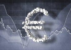 Euro tasso di cambio, rappresentazione 3D Immagini Stock
