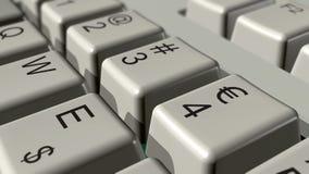 Euro- teclado Fotografia de Stock Royalty Free