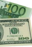 Euro tegenover de dollar van de V.S. Stock Foto's