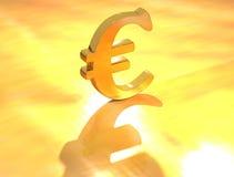 Euro teken Stock Foto's