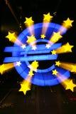 Euro Teken buiten Europese Centrale Bank Royalty-vrije Stock Afbeelding