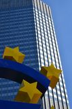 Euro Teken in Frankfurt royalty-vrije stock foto's