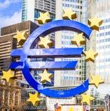 Euro Teken in Frankfurt Royalty-vrije Stock Fotografie