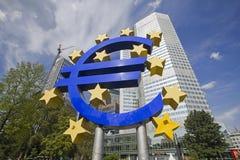 Euro Teken in Frankfurt, Duitsland Royalty-vrije Stock Fotografie
