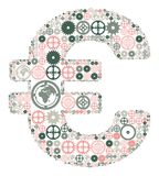 Euro die teken van gekleurde toestellen wordt gemaakt vector illustratie
