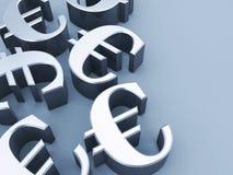 Euro tekens Stock Foto's
