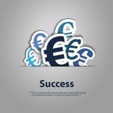 Euro Tekensontwerpen Vector Illustratie