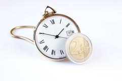 Euro tempo Fotografia Stock Libera da Diritti