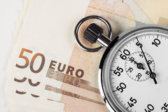Euro tempo Fotografie Stock