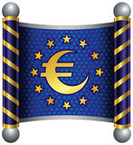 Euro Theme. Theme inspired by the European community and its representative Royalty Free Stock Image
