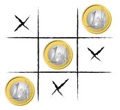 Euro Tic Tac Toe Royalty Free Stock Photography