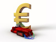 Euro timebomb. Timebomb with sign of Euro currency Royalty Free Stock Photography