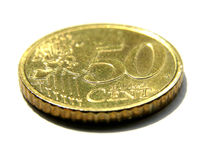 Euro token coin Royalty Free Stock Image