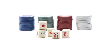 Tokens poker Royalty Free Stock Images