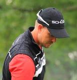 Euro tour golfer Henrik Stenson. Pro golfer Henrik Stenson of Sweeden prepares to tee off at the PGA pro golf event Stock Images
