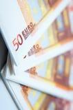 50 euro tovaglioli Fotografia Stock Libera da Diritti