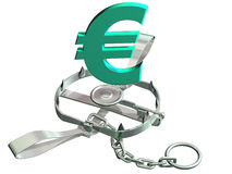Euro trap Stock Photo