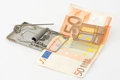 Euro trap Royalty Free Stock Photo