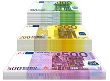 Euro Treden Royalty-vrije Stock Afbeelding