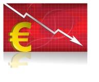 Euro- troca/vetor Foto de Stock