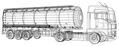 Euro Truck Cistern illustration. Vector. Tracing illustration of 3d. EPS 10 vector format.  vector illustration
