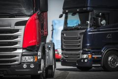 Euro Trucks Convoy Stock Images