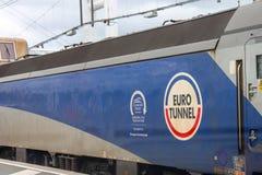 Euro tunnel train Stock Photo