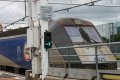Euro tunnel train Stock Images