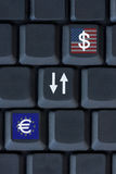 Euro and U.S. Dollar currency Royalty Free Stock Image