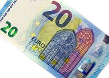 20 euro uma versão nova Fotos de Stock Royalty Free