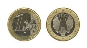 euro un de pièce de monnaie
