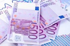 Euro und Diagramm Lizenzfreie Stockbilder