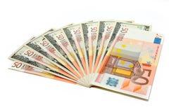 Euro und Dollar Lizenzfreie Stockbilder