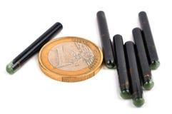 Euro und Identifikations-Implantate Lizenzfreie Stockfotos