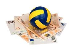 Euro und Kugel stockfotos