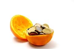 Euro und Orange Lizenzfreie Stockbilder