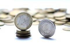 Euro- und polnisches Bargeld Stockfotos