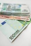 Euro und Schutte Stockfoto