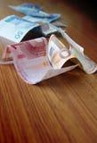 Euro- und unterschiedliches Geld Stockbild